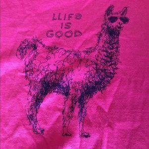 Life is Good Women's medium Llama
